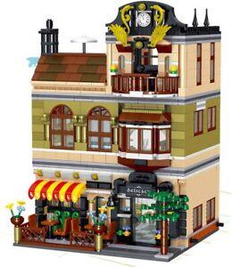 Bausteine Haus chinesisches Restaurant mit Dachterasse, Modular Building,...