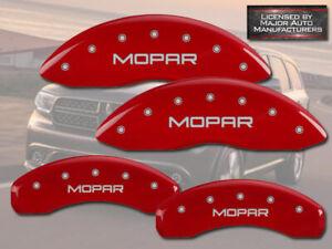 2006-2010 Dodge Ram 1500 Front + Rear Red MGP Brake Disc Caliper Covers Mopar
