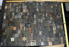 ANTIQUE 800 TYPE BLOCK LETTERS WOODEN LARGE COLLECTION PRINTING PRESS