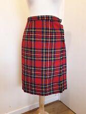 L'Or Model Women's Red Tartan Kilt Knee-length Skirt Sz 8 - 10