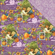 Graphic 45 2 sheets, Children's Hour collection, OCTOBER MONTAGE, 12 x 12 paper