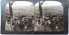Keystone Stereoview View Overlooking Hong Kong, CHINA from the 1930's T400 Set B