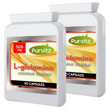 L-Glutamine 500mg 180 Capsules Amino Acids Increase Muscle Mass Weight Gain