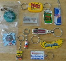 Foods Drinks Restaurants Promo Key Chain Ring Lot pepsi red bull boars head moes