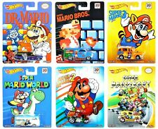 2014 Hot Wheels Pop Culture Super Mario Bros. of 6 1:64 Scale Diecast Vehicles!