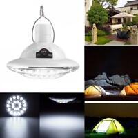 Solar Powered 22 LED Dimmable Flashlight Camping Light Lantern Rechargeable Lamp