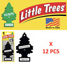 Black Ice Freshener Little Trees 10155  Air Little Tree MADE IN USA Pack of 12