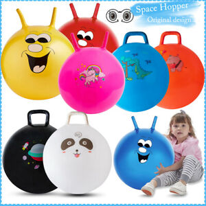 Inflatable Space Hopper Ball Exercise Indoor Outdoor Bounce Jump Toy Kids Adult