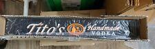 """TITO'S Handmade Vodka Austin Texas Rail Bar Drink Mat 3.25"""" X 22.5"""" mancave drip"""