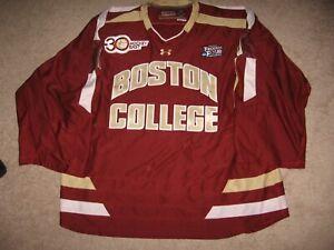 Game Worn Boston College Brian Billett Goalie Jersey Frozen Four-Hockey East