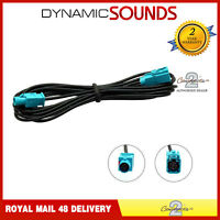 Connects2 CT27AA118 Fakra Male to Female 3 Meter Aerial Extension Cable Lead