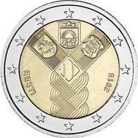 Estland 2 Euro 100 Jahre Unabhängigkeit 2018 bankfrische Gemeinschaftsausgabe