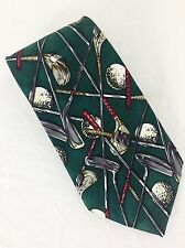 "Golf Clubs And Ball Tie. 4"" Wide. Excellent Condition."