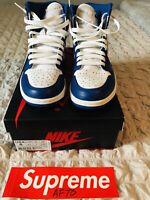 Nike Air Jordan Retro 1 High OG Storm Blue 555088 127 Size 8 RARE AUTHENTIC Vnds