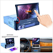 "7"" 1 Din HD Touch Screen Bluetooth GPS MP5 Player 7 Colors Backlight AUX USB FM"