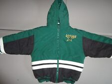 VINTAGE 90's Green Dallas Stars NHL Mighty Mac Sewn Hooded  Parka Fits youth S