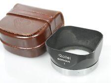 Rollei Rolleiflex Gegenlichtblende Lens Hood Bajonett 1 bayonet I + Tasche case