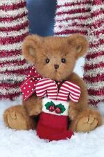"""Bearington Bears Holden Candy Plush Christmas Teddy Bear with Stocking, 14"""" Tall"""