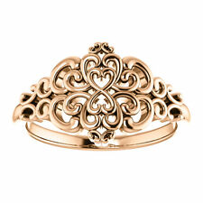 Vintage Inspired Ring 14kt Rose Gold Design Fashion Jewelry Free Shipping Size 7