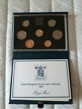 1985 Royal mint Proof Coin collection in blue case.