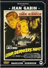 "DVD ""LEUR DERNIERE NUIT"" - JEAN GABIN - MADELEINE ROBINSON -neuf sous blister"