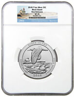 2018-P Block Island 5 oz Silver ATB Beautiful Specimen Coin NGC SP70 FR SKU51774