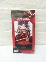 STAR WARS The Rise Of Skywalker Valentines - 32 Cards & 32 Stickers - New Box
