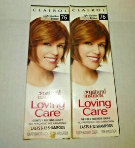 2 x Discontinued Clairol Loving Care 76 Light Golden Brown Hair Color Creme