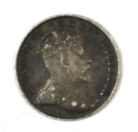 1910 Canada 5c Five Cents Silver Coin Half Dime KM# 13 Pointed Holly Leaves