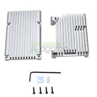 CNC Aluminum Protective Shell Case Silver Metal Enclosure Box For Raspberry Pi 4