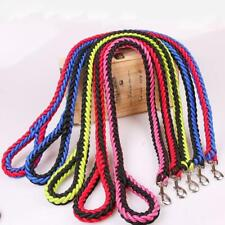 Hundeleine Geflochten Mehrfarbig für große und kleine Hunde Nylon Seil