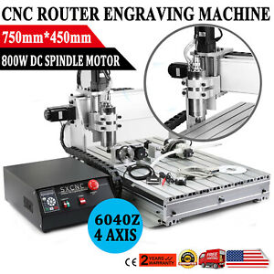 USB CNC ROUTER 6040Z 4 AXIS ENGRAVER ENGRAVING MACHINE WOODWORK 1500W VFD