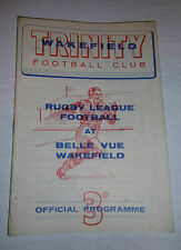 Wakefield Trinity v Leeds 23rd September 1961 League Match @ Belle Vue Wakefield