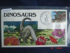Dinosaurs Brontosaurus 25c Stamp Fdc Handpainted Collins#L1605 Sc#2425