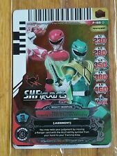 SDCC 2013  Power Rangers Foil Red Green Ranger Mighty Morphin Promo Card P-189