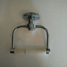 WALL-MOUNTED CHROME TOILET PAPER HOLDER WITH WHITE ROD