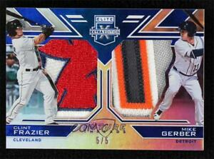 2016 Panini Elite Extra Edition Blue 5/5 Clint Frazier Mike Gerber #FTSD-18
