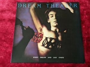 Dream Theater When Dream And Day Unite Vinyl LP 1989 UK First Pressing RARE