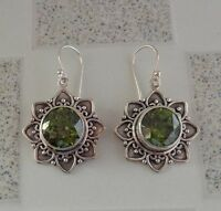 Peridot Solid Silver, 925 Bali Handcrafted Earring 35976