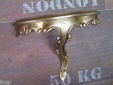 Mini Console / Applique murale rangement argent vieilli REPRO Baroque 23,5x10x18