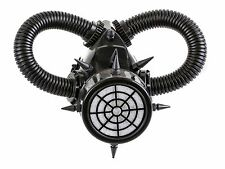 Gas Mask Respirator Black Punk Goth Cyber Halloween Steampunk party Cosplay