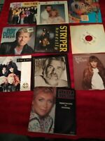 "80s Pop Vinyl Lot 7"" 45 Barbara Mandrell Chicago Heart The Jets etc. Pic Sleeve"