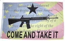 3x5 Come and Take it Constitution 2nd Amendment Machine Gun 1911 AR-15 NRA Flag