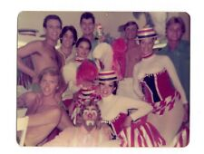Vtg Photo Clowns Trapeze Men Pretty Women Showgirls Ringling Bros Circus 70's