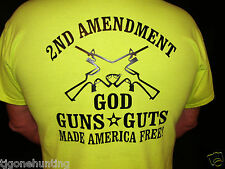 2nd Amendment God Guns and Guts T- shirt Iron-on Heat Transfer