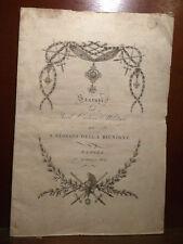 Regno Due Sicilie - Statuti Real Ordine Militare S. Giorgio Riunione Napoli 1819