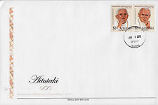 Aitutaki 2011 Fdc beatificación Papa Juan Pablo Ii 2v Set cubierta religión Benedicto
