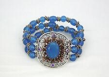 Bracciale Sodini elastico con medaglione in stile etnico - blu