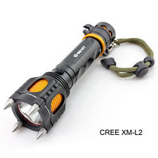 Brightness Cree Xm-L2 Led Flashlight Flash Torch Tactical Defensive Light Lamp