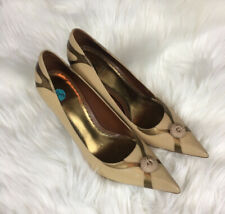 Tan And Gold Pumps By J Vincent